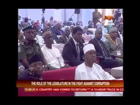 Lecture titled the importance of legislation on fight against corruption in Nigeria(1)