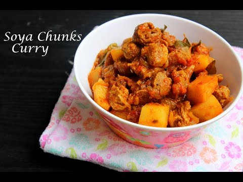 Soya Chunks Curry for Chapathi|Soya Chunks Potato Curry|Anu's Kitchen