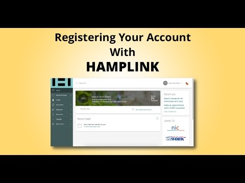 Registering Your Account with Hamplink