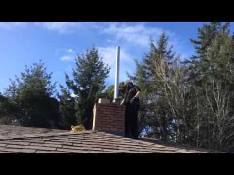 Installing Rigid Chimney Liner 2000 Degrees F | Flue Guru