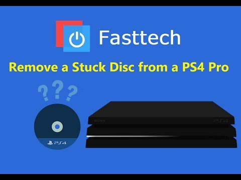How to manually remove a game disc from a dead PS4 Pro