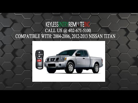 How To Replace Nissan Titan Key Fob Battery 2004 2005 2006 2012 2013