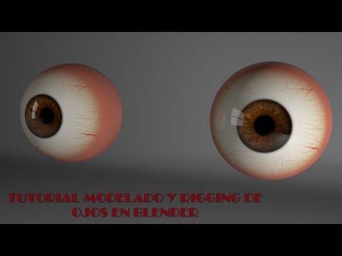 Modelado y rigging de ojos en Blender