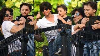 AbRam Khan Looks Adorable Waving At Fans On Shahrukh Khan Birthday 2019