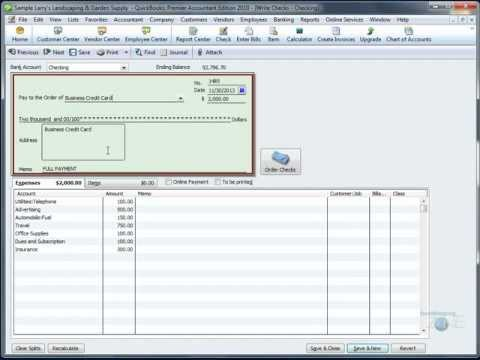 QuickBooks Training Videos: Pay off Credit Card Every Month in QuickBooks®