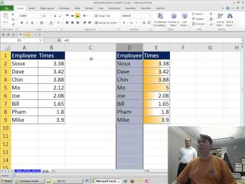 Mr Excel & excelisfun Trick 72: Data Bar Cell Charts in Excel 2007/2010 & Excel 2003