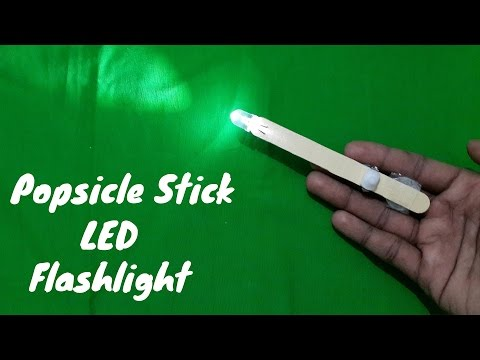 How to Make a Simple Popsicle Stick LED Flashlight