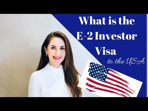 What is E2 Investor Visa to the USA?✅🇺🇸