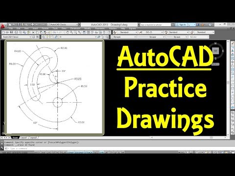 AutoCAD 2D Practice Drawing for Beginners 2   Engineer AutoCAD Tutorials   AutoCAD Tips and Tricks