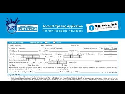 How to fill SBI NRI account opening form?