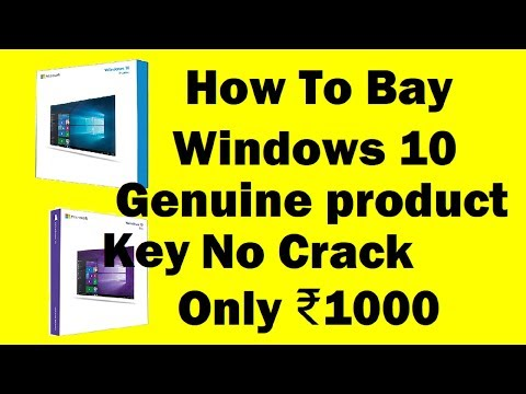 How To Buy Windows 10 Genuine product Key No cracks Official Only ₹1000