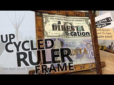 Upcycled Ruler Frame - a DIRESTA-cation