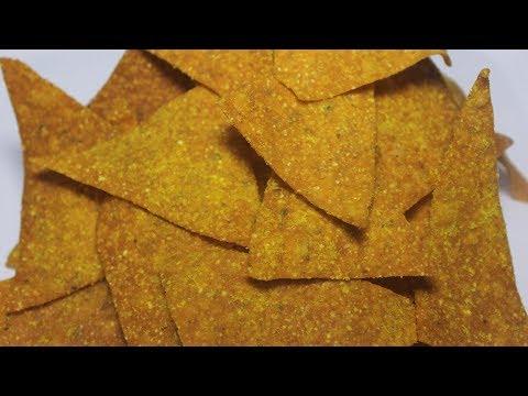 Nachos Chips Recipe | Homemade Crispy Nachos | Corn Tortilla Chips | Kanak's Kitchen