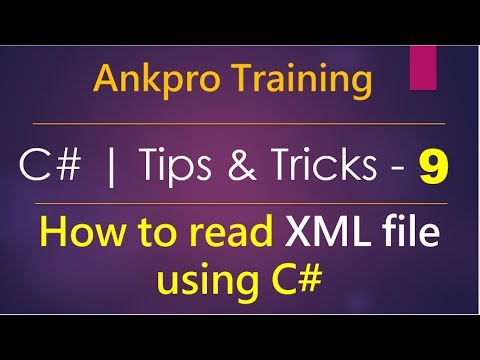 C# tips and tricks 9 - How to read XML file using C# | Xml Document | Xml Text Reader | System.Xml