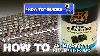 How to blacken & burnish metal tank tracks VMS Black Track