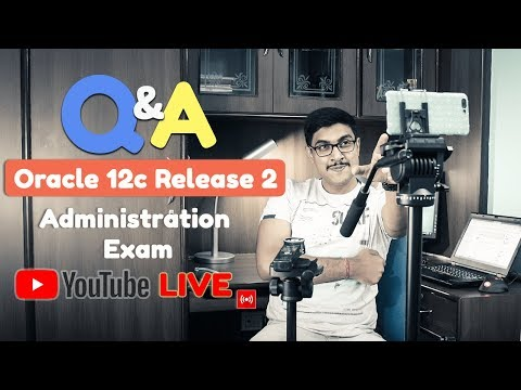 Live 🔴 Let's talk about Oracle Database 12cR2 administration by Manish Sharma