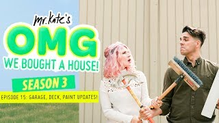 major updates garage gym deck remodeling new paint omg we bought a house mr kate