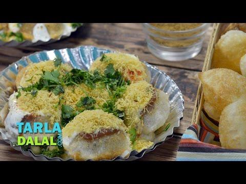 Dahi Puri Recipe, Dahi Batata Puri, Kids favourite by Tarla Dalal