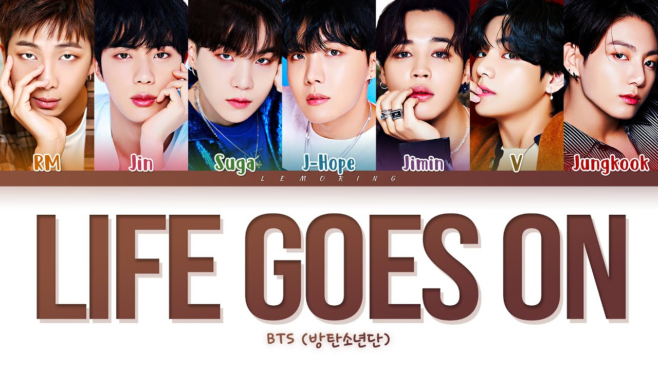 BTS Life Goes On  (방탄소년단 Life Goes On 가사) [Color Coded Lyrics/Han/Rom/Eng]