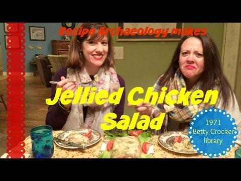 Jellied Chicken Salad - Chicken suspended in Jelly!