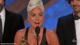 Lady Gaga Cries After Winning Oscar For Best Original Song Shallow In A Star Is Born