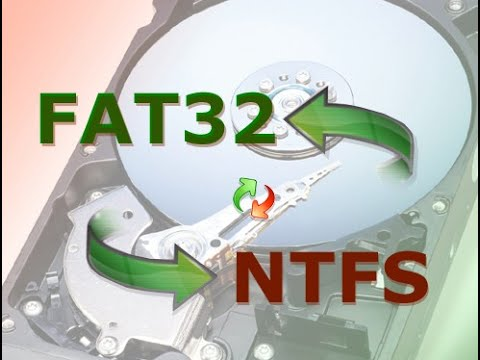 How to convert FAT32 to NTFS (Without losing data)