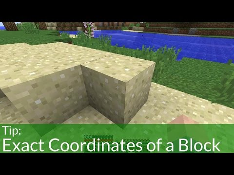 How To Get The Exact Coordinates of a Block In Minecraft