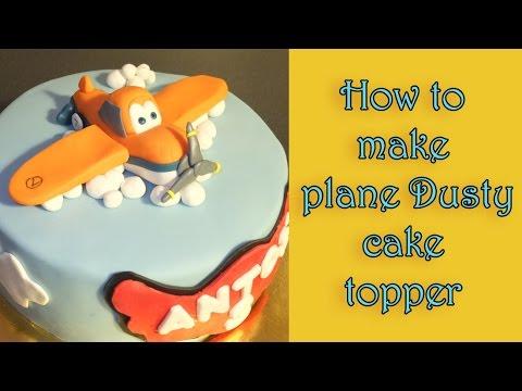 How to make a plane Dusty fondant figure tutorial / Jak zrobić figurkę samolotu Dusty