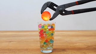 Download EXPERIMENT Glowing 1000 Degree METAL BALL vs Orbeez Satisfying Video
