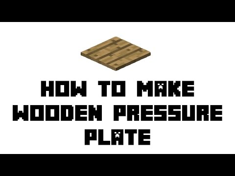 Minecraft Survival: How to Make Wooden Pressure Plate