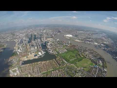 Robinson R44 Helicopter Flight, Nottingham to London and over Heathrow Airport