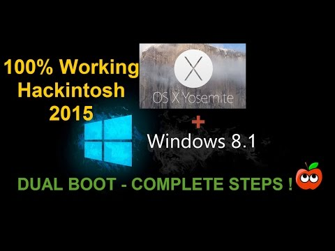 How to install Mac OS X and Windows both on one PC | Hackintosh 2015 | Yosemite and Win 8.1 !