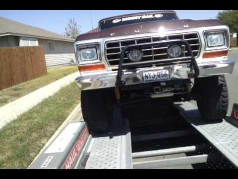 Loading a 4700lb 1978 Ford Bronco onto a U-Haul trailer