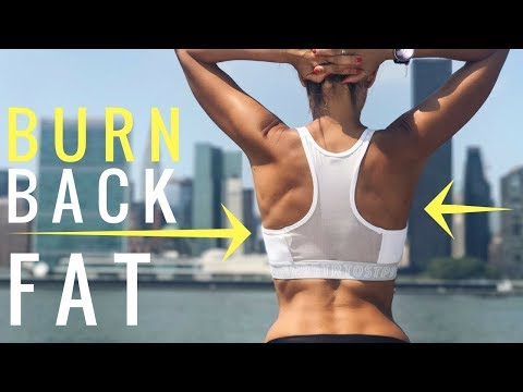 Get Rid of Fat Rolls on Back and Under Bra | Back Workout Routine