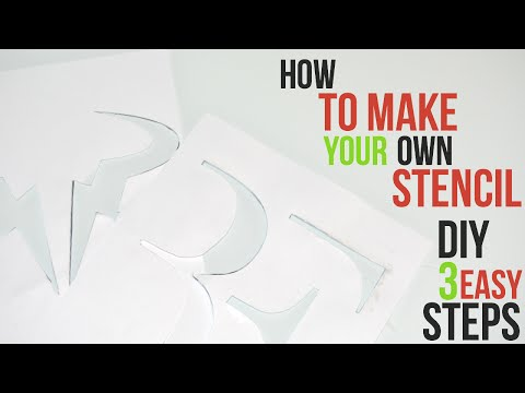 How to Make a Racket Art Stencil (DIY - 3 EASY STEPS)