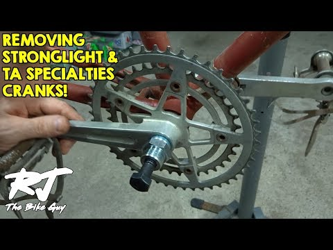 How To Remove Vintage Stronglight & TA Specialties Cranksets & Crank Puller Tools