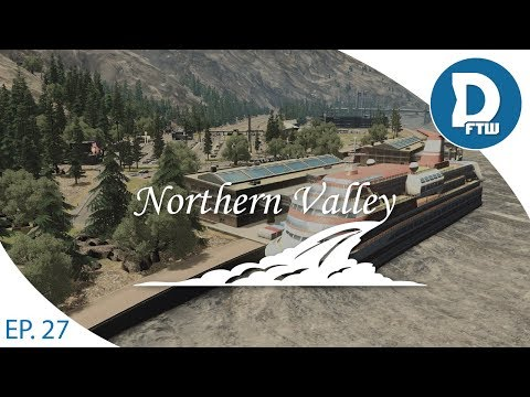 Let's Design Northern Valley Ep.27 - Passenger Boat Harbor and Transit Hub - Cities Skylines