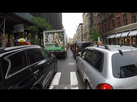 Lane Splitting an insane traffic jam in New York City