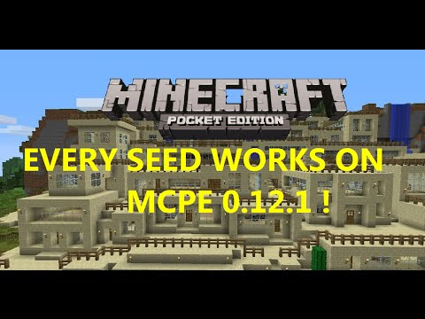 ALL SEEDS FROM MCPE 0.15.0 and 0.16.0 WORK ON 1.0.0 !