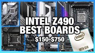 Best Intel Z490 Motherboards from $150 to $750: i5-10600K, i7-10700K, i9-10900K