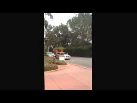 Montecito CA fire department squad 91 responding to a medical emergency