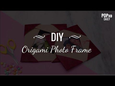 DIY Origami Photo Frame - POPxo