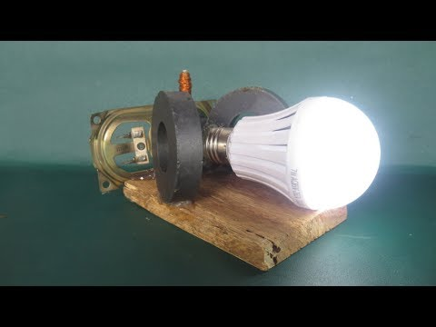 Homemade free energy at home with magnets - Free energy light bulbs Device easy