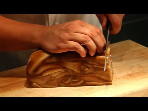 Chef Sang Yoon, of Father's Office gastropub, prepares pig ear terrine