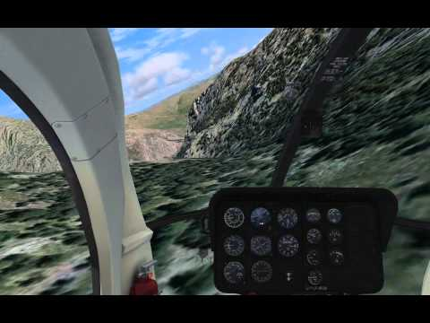 Flight Simulator X helicopter low level flying