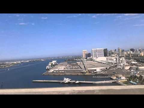 Driving across the San Diego-Coronado Bridge in Coronado, California (August 2013)