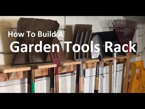 Garden Tools Rack - How To Build An OldSchool Organizer