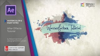 Watercolor & Paint Elements & Intro - After Effects Tutorial - [ENGLISH]