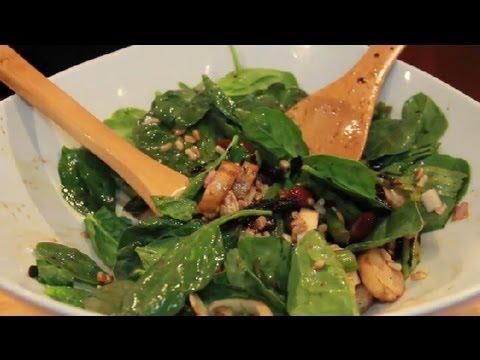 Asparagus & Spinach Salad : Spinach Salads