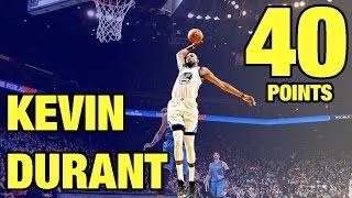 Kevin Durant 40 Points vs Oklahoma City Thunder | 01.18.17